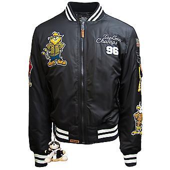 Top Gun Champs Bomber Jacket Black