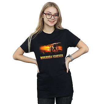 Marvel kvinder Black Panther Wakanda Forever kæreste Fit T-Shirt