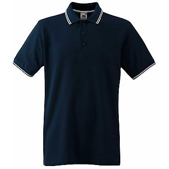 Fruit of the Loom Mens Tipped Short Sleeve Cotton Polo Shirt S,M,L,XL,XXL,3XL