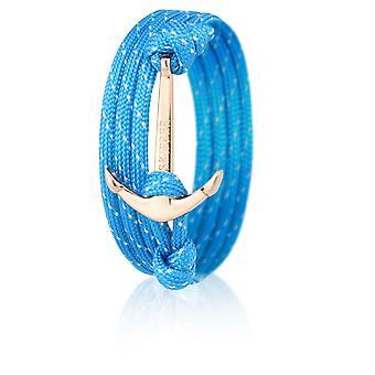 Luz azul nylon anclaje 6644 brillo patrón ancla pulseras de oro