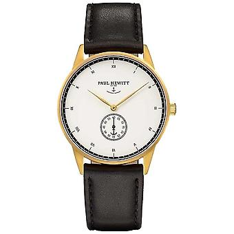 Paul Hewitt unisexe Signature cuir noir bracelet Watch de PH-M1-G-H - 2M