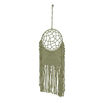 Natural White Boho Style Macramé Dreamcatcher Wall Hanging
