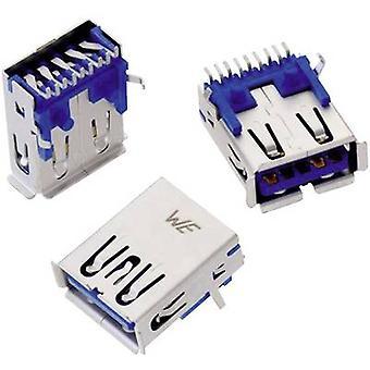 WR-COM USB 3.0 type En liggende SMD-stik, vandret montering WR-COM 692122030100 Würth Elektronik Indhold: 1 stk(er)
