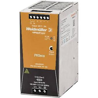 Weidmüller PRO ECO 240W 24V 10A Schienennetzteil (DIN) 24 V DC 10 A 240 W 1 x