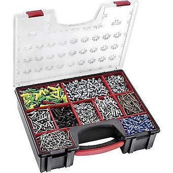 Herramienta de la caja (vacía) Facom BP. Z8PB policarbonato (PC) negro, rojo