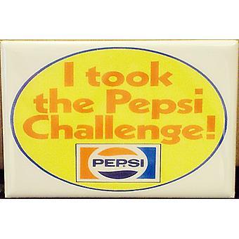 Aceitei o desafio Pepsi ímã do refrigerador aço