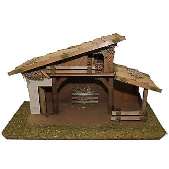 Crib Nativity scene wood Nativity stable Joshua hand work for characters up to 12 cm