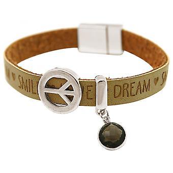 Женщины - браслет - гармония - мира - желает песка - дымчатый кварц - Браун - Магнитная застежка