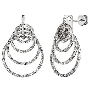 Ohrhänger 925 Sterling Silber mit Zirkonia Ohrringe Ohrstecker Silberohrringe