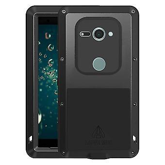 Love Mei powerful hybrid case Sony Xperia XZ2 Compact, screen protector - Black