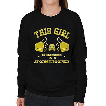 Original Stormtrooper, die dieses Mädchen mit ein Trooper Damen Sweatshirt verheiratet ist