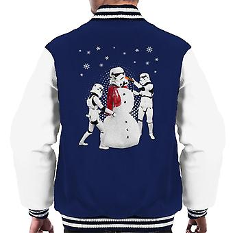 Original Stormtrooper Snowman Trooper Christmas Men's Varsity Jacket