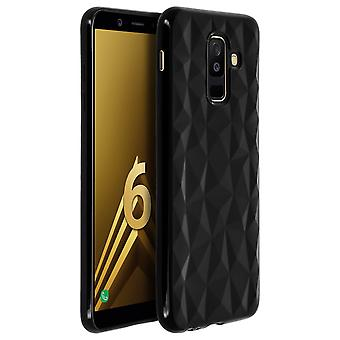 Forcell Prism Series soft TPU case for Samsung Galaxy A6 Plus - Black