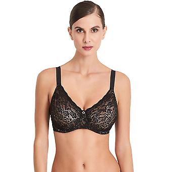 Aubade HK13 Women's Rosessence Black Lace Underwired Comfort Full Cup Bra