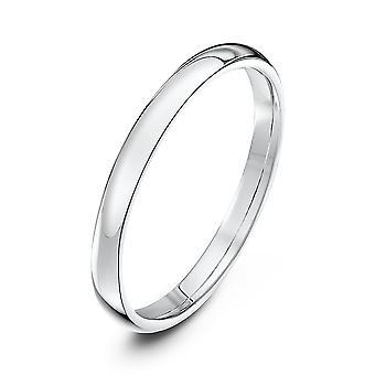 Star vihkisormukset 18ct valkoinen kulta valo tuomio istuin muoto 2mm Wedding Ring