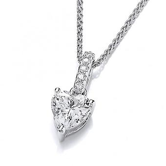 Cavendish French Sparkly Little Drop Heart Pendant without chain