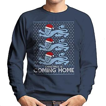 Christmas Is Coming Home The Lions England Football Men's Sweatshirt