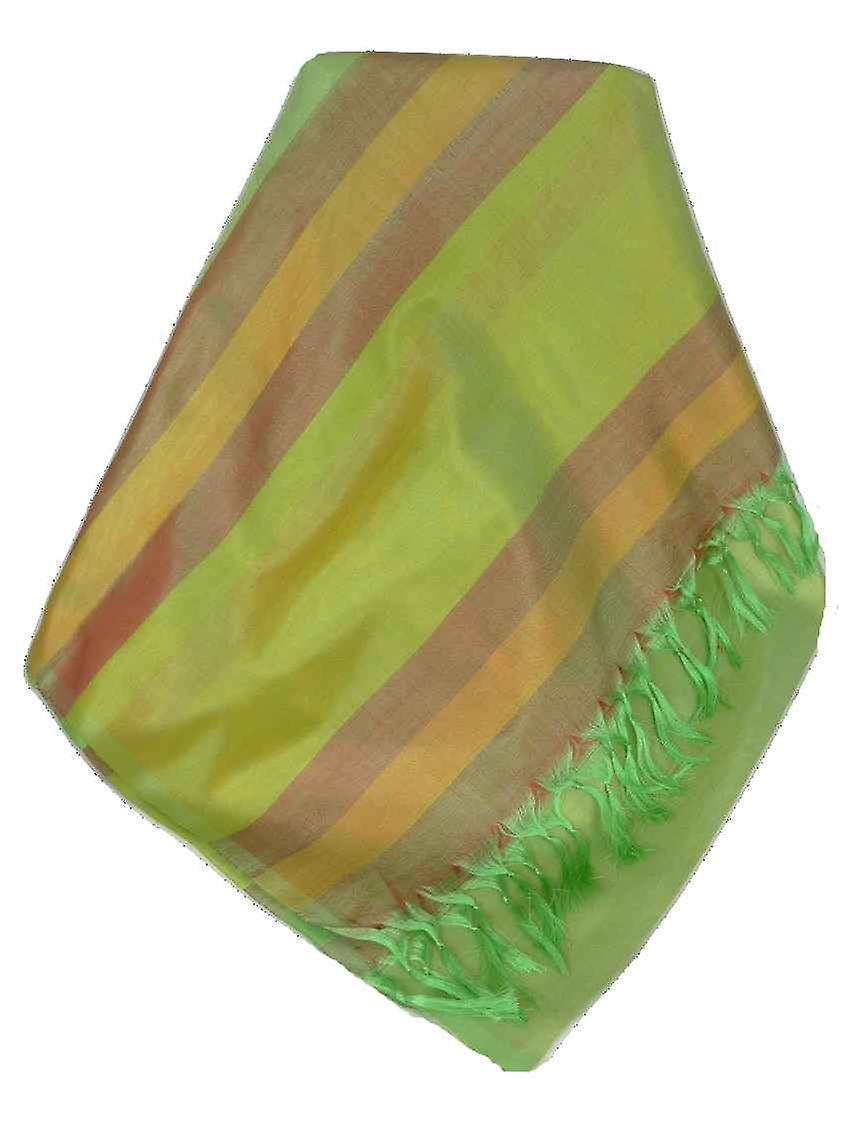 Varanasi Border Prime Silk Long Scarf Heritage Rajagopal 263 by Pashmina & Silk