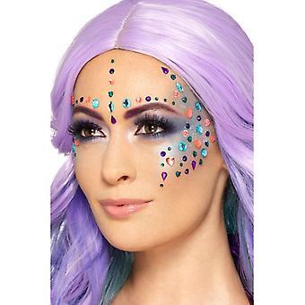 Make Up FX Gesichtssteine selbstklebend Karneval Accessoire Pastel Jewel Face Gems