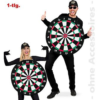 Dartboard darts costume Dartkostüm washer unisex