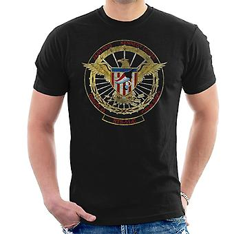 NASA STS 51 C Discovery Mission Badge Distressed Men's T-Shirt