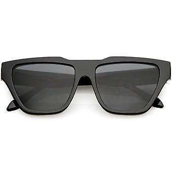Oversize róg oprawie kot oko okulary neutralnym kolorze Square soczewki 55mm