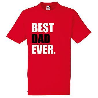 Röd bästa pappa någonsin Tshirt