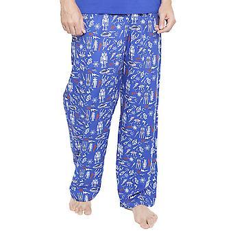 Cyberjammies 6350 hommes espace Oscar bleu et pantalon de Pyjama imprimé Robot
