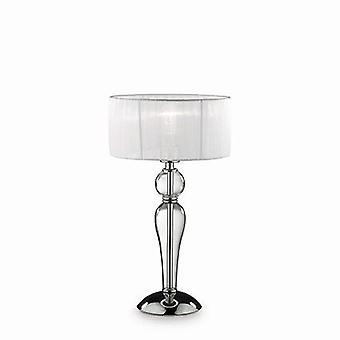 Ideal Lux - Duchessa klein Chrom und Glas Tischleuchte mit Schirm IDL051406
