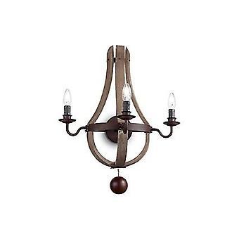 Ideal Lux - Millenium marrón tres pared luz luz IDL136875