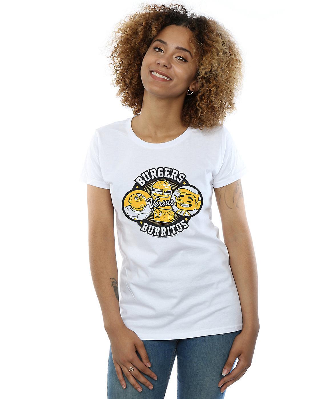 DC Comics Women's Teen Titans Go Burgers Vs Burritos T-Shirt