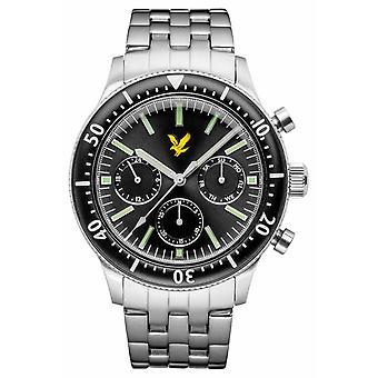 Lyle & Scott Mens Jacklin Stainless Steel Bracelet Black Dial LS-6009-11 Watch