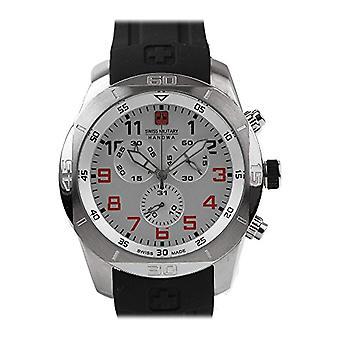 Swiss Military Hanowa Mens Quartz Watch with rubber strap Analogueico 06-4265.04.001.79