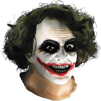 Joker Latex Mask W Hair For Adults