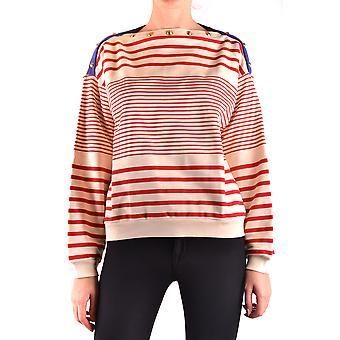 Filosofia Por Lorenzo Serafini Ezbc087030 Women's Branco/Vermelho Cotton Sweater