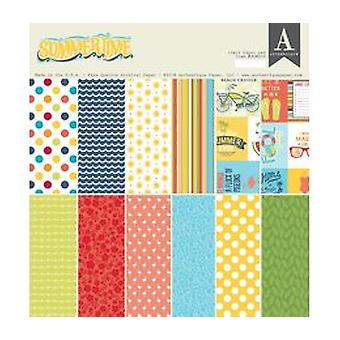 Authentique Summertime 12x12 Inch Paper Pad