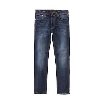 Nudie Jeans Co Lean Dean Slim Fit Jeans (Dark Deep Worn)