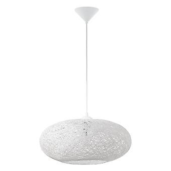 Eglo Campilo Fabric Twist Pendant Light In White