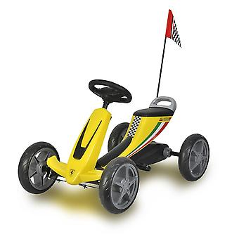 Licensed Ferrari Kids Pedal Go Kart Yellow