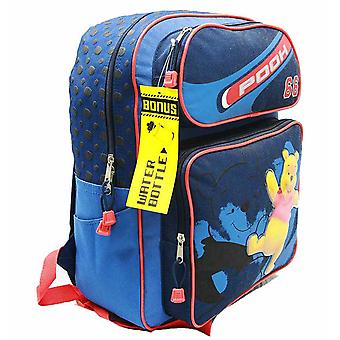 Backpack - Disney - Winnie the Pooh - Blu w / Bottiglia d'acqua Grande Borsa 28177