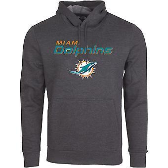 Nowa era STACK LOGO Hoody-NFL Miami Dolphins węgiel drzewny