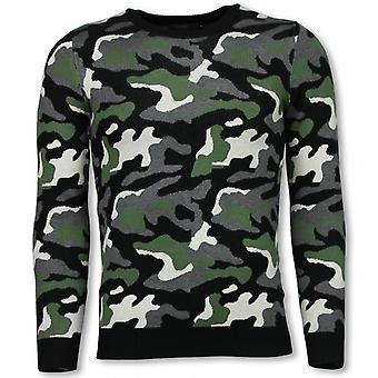 Military Sweater-Camouflage Pullover-Green