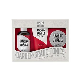 Hawkins & Brimble wortel naar Tip gift set 3PC (face wash/Body Wash/Matt Clay)