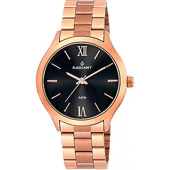 Radiant new cover watch for Women Analog Quartz with stainless steel bracelet plated in RA330207 gold