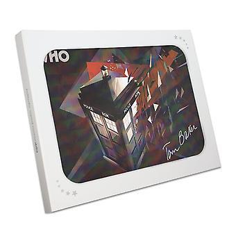 Tom Baker signiert Dr Who Tardis Poster In Geschenkbox