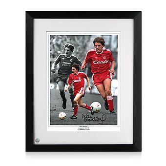 Peter Beardsley Signed Liverpool Photo. Framed