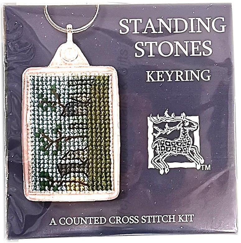 Textile Heritage Counted Cross Stitch Keyring - Standing Stones