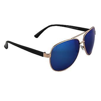サングラス パイロット 偏光ガラス ゴールド ブルー 無料BrillenkokerS308_6