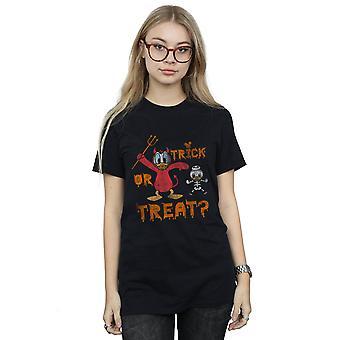 Disney Frauen Donald Duck Halloween Trick or Treat Freund Fit T-Shirt