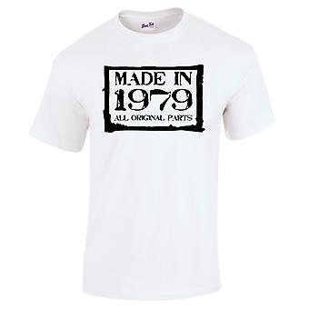 Men's 40th Birthday T-Shirt Made In 1979 Novelty Prezenty dla niego